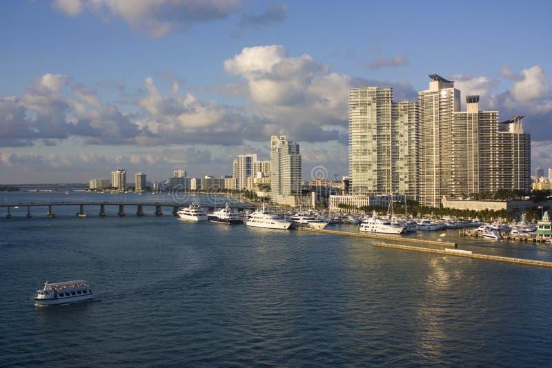Miami luxury harbor stock image