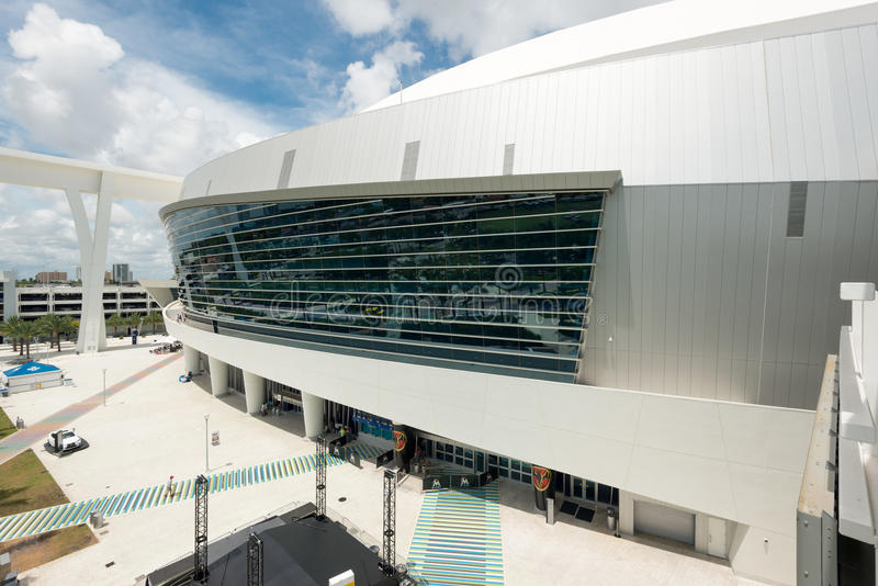 The Miami Marlins stadium in Miami royalty free stock photos