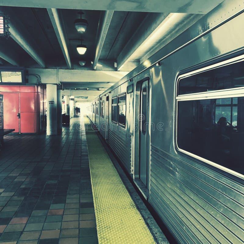 Miami metro rail. Through the city royalty free stock photo
