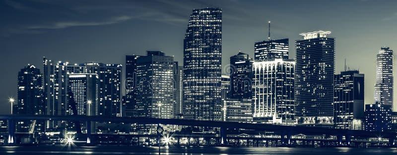 Miami miasta linia horyzontu obrazy royalty free