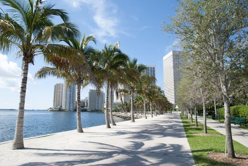 Miami nabrzeża przejście zdjęcia stock