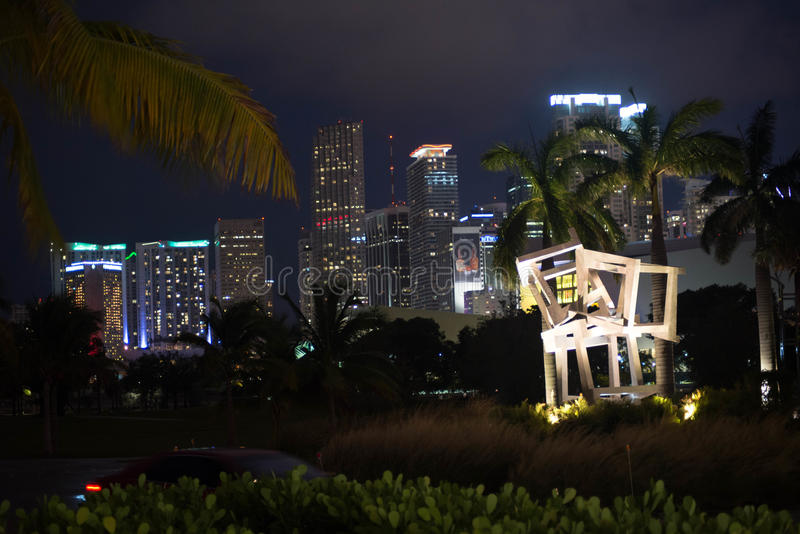 Miami-Nacht lizenzfreies stockbild