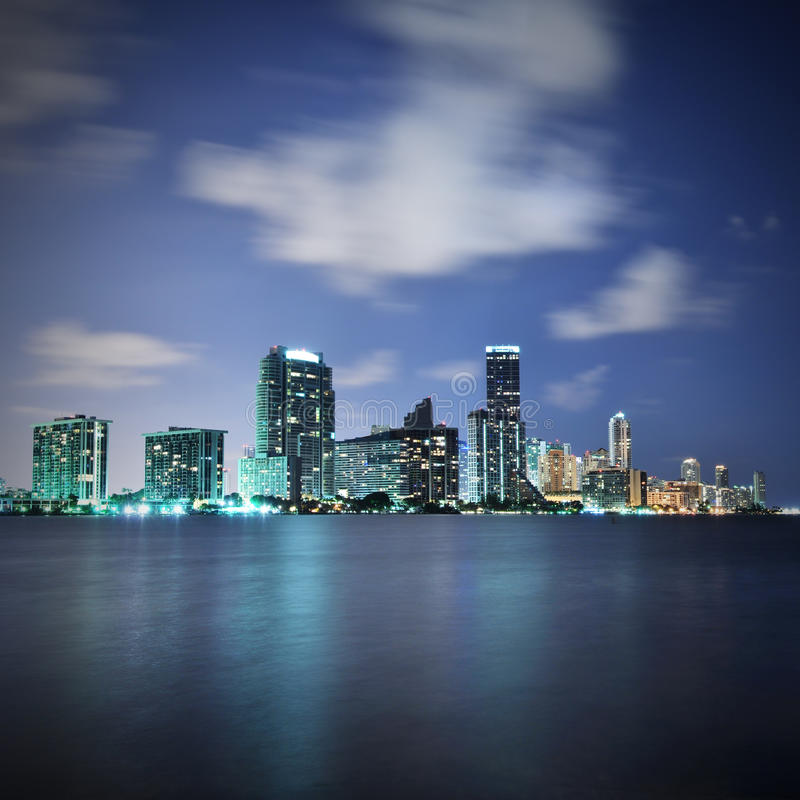 Download Miami at night stock photo. Image of night, skyscrapers - 16601102