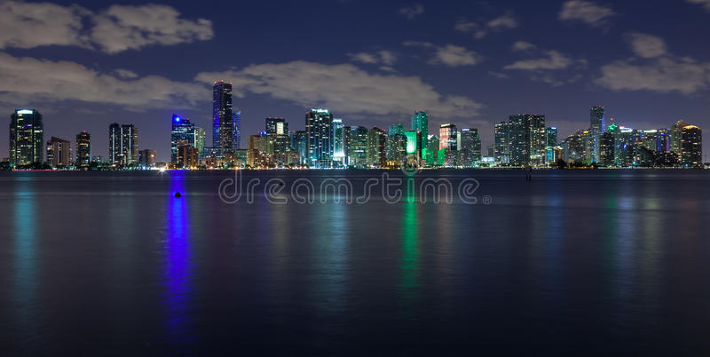 Miami At Night Stock Photography