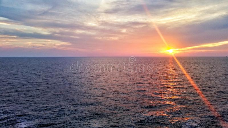 Miami Ocean Sunset stock photography