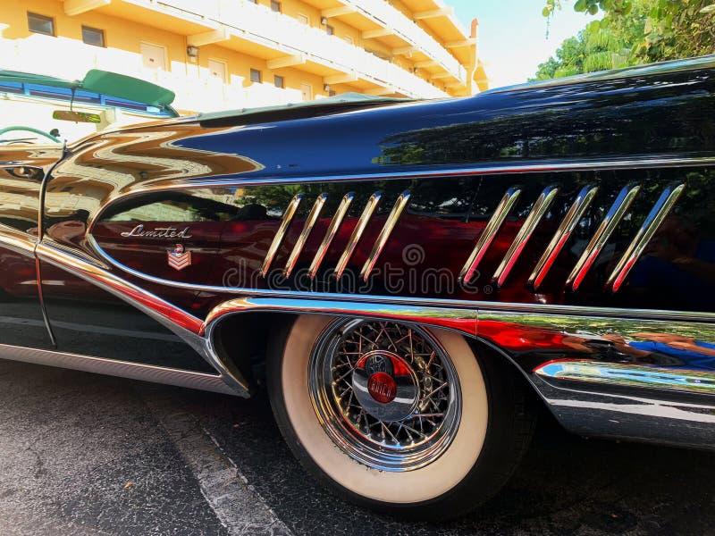 MIAMI OKTOBER - 2018: Bewegungssammlung von alten Autos lizenzfreie stockbilder