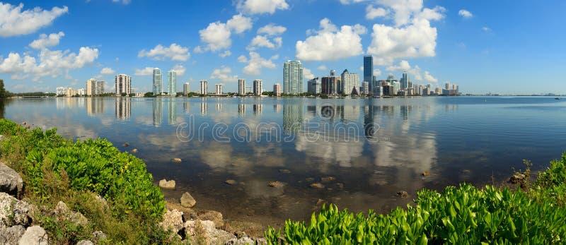 Miami Panoramic Skyline stock images