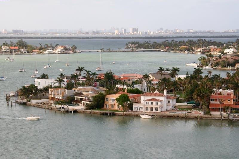 Miami par l'eau photographie stock