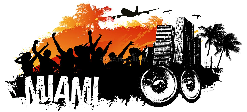 Miami-Partei lizenzfreie abbildung
