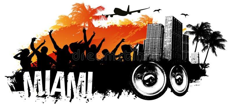 Miami party royalty free illustration