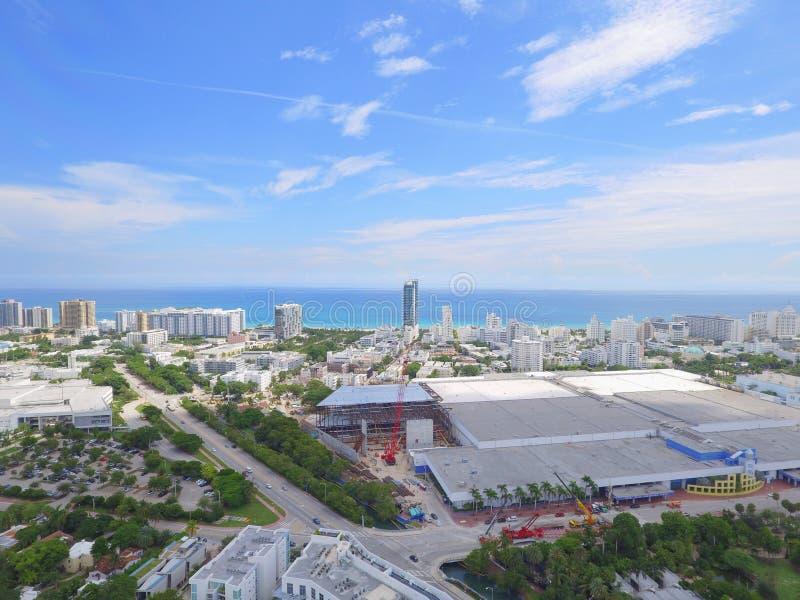 Miami plaży convention center obraz stock