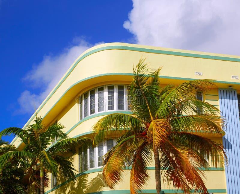Miami plaży oceanu bulwaru art deco Floryda zdjęcie royalty free