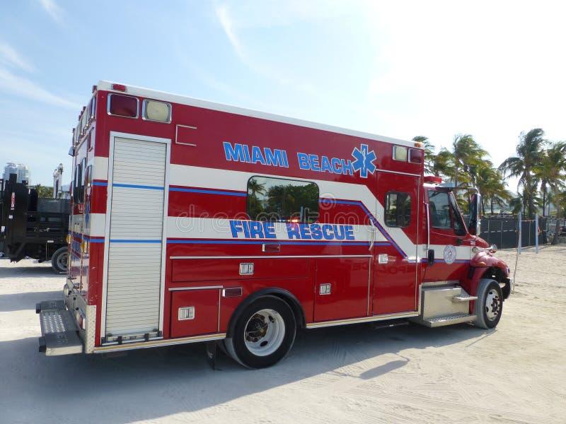 Miami plaży ogienia ratunek fotografia royalty free