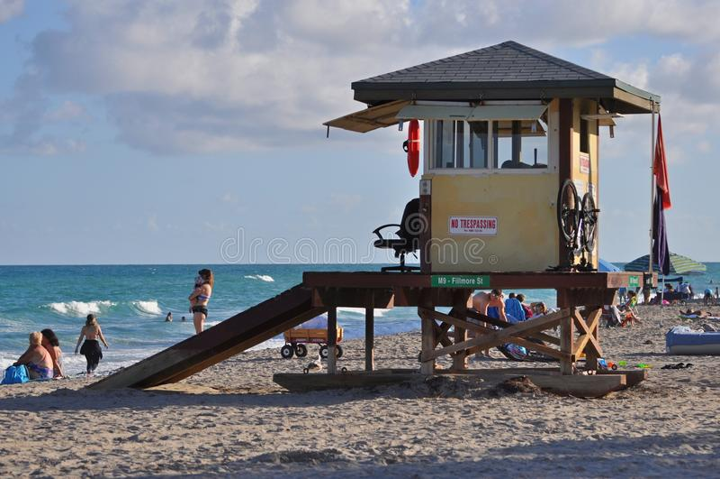 Miami plaży ratownika stacja obrazy royalty free