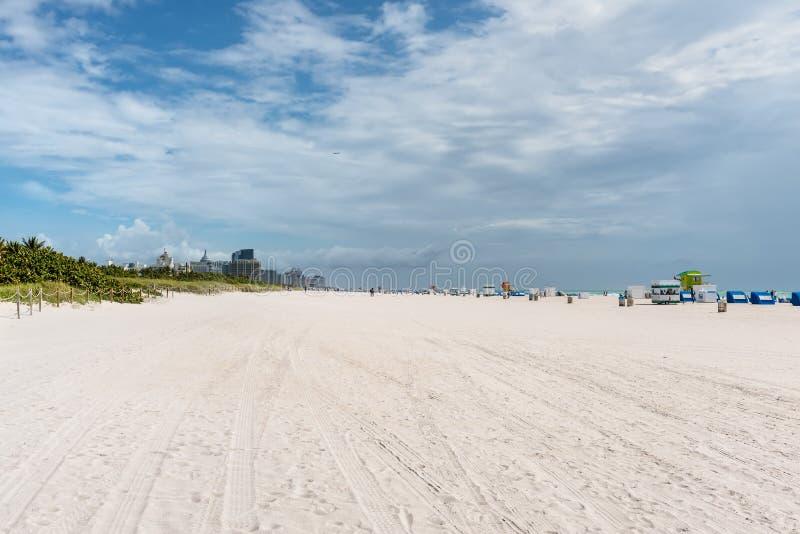 Miami po?udnie pla?a, Floryda, usa zdjęcia royalty free