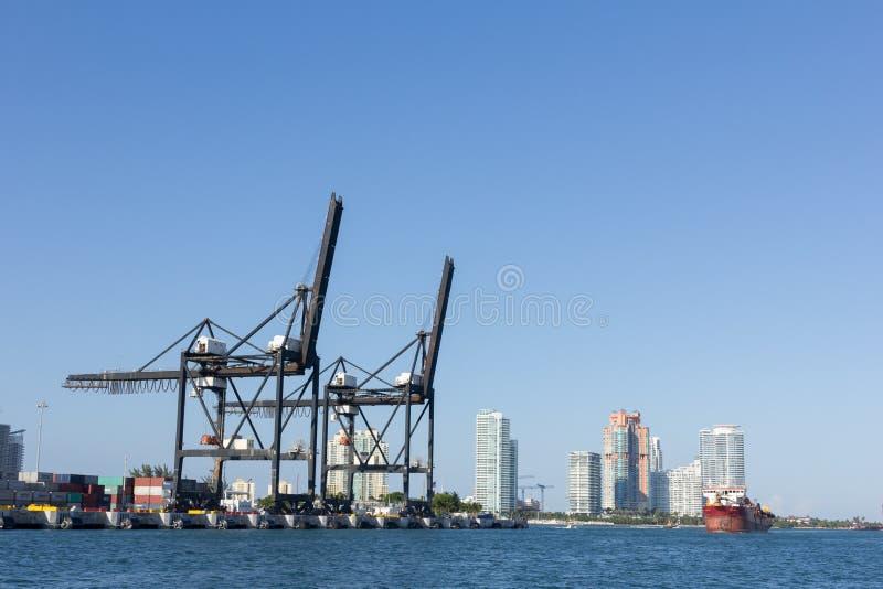 Miami port royaltyfri bild