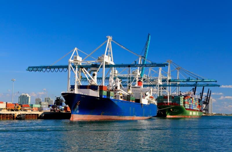 miami port royaltyfri foto
