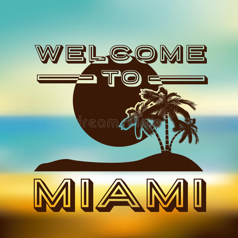 Download Miami projekt ilustracja wektor. Ilustracja złożonej z natura - 41950167