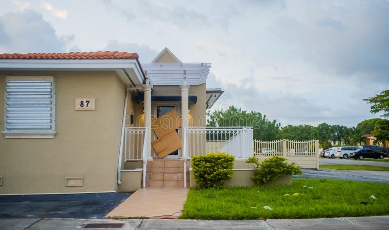 Miami przed Huraganowym Irene fotografia stock