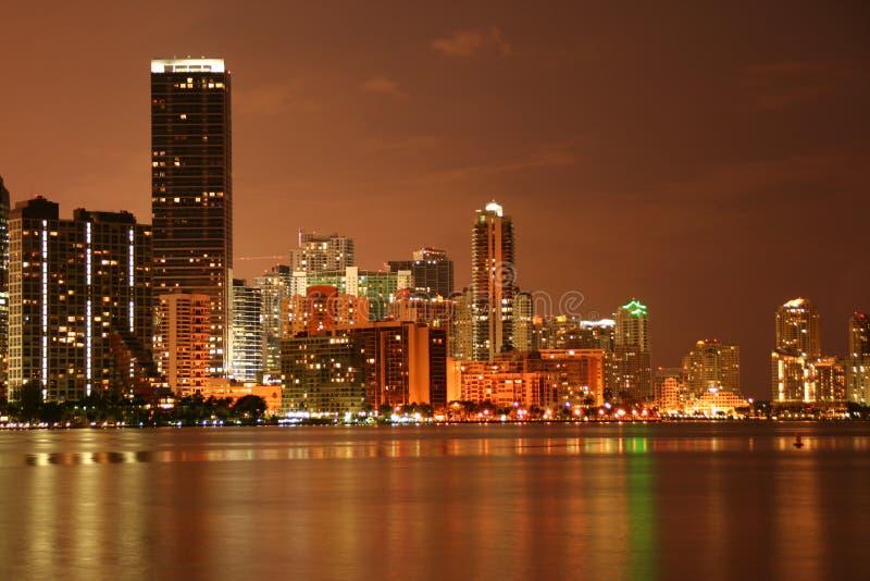 Miami przy Noc zdjęcia stock
