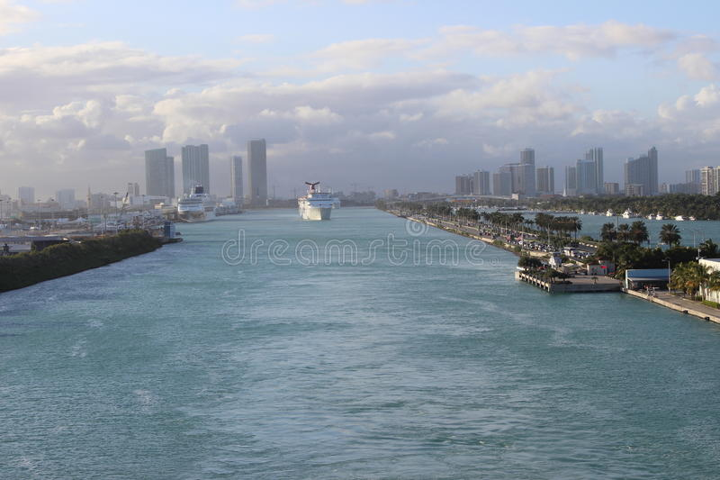 Miami rejsu port zdjęcie stock