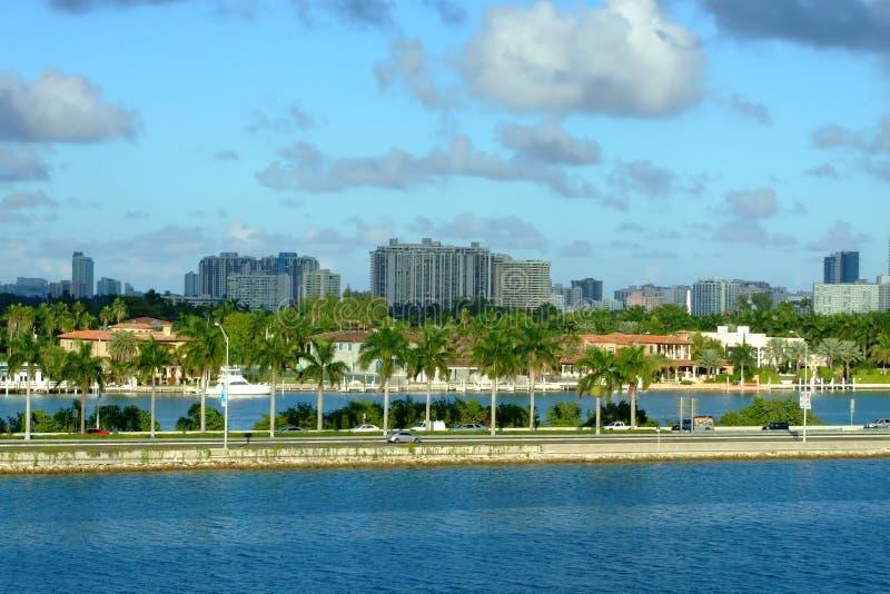 Miami riviera royalty free stock photography