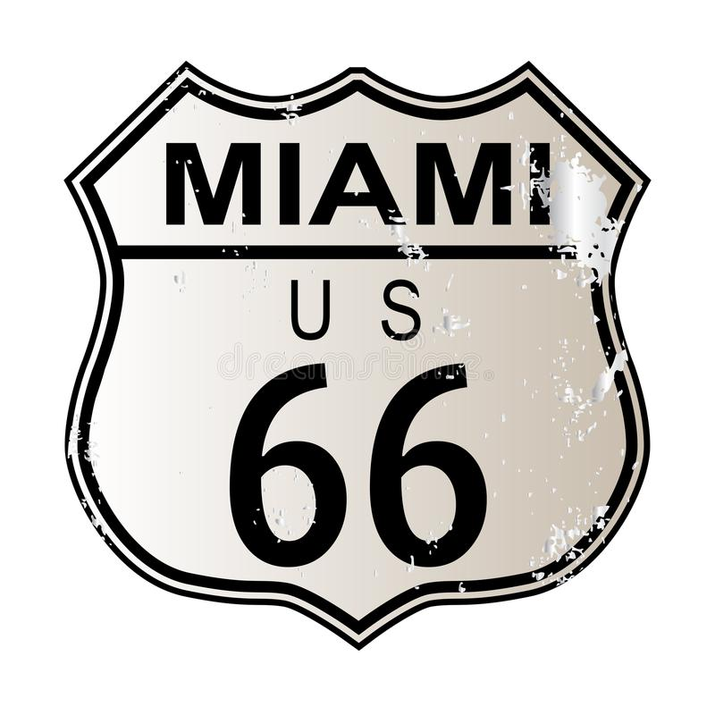 Miami Route 66 stock de ilustración