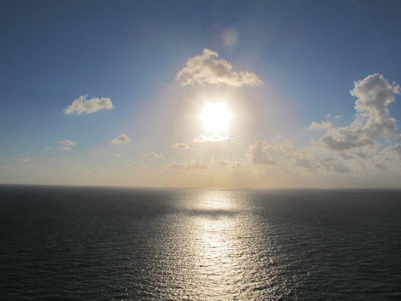 Beautiful sunrise ocean stock photo