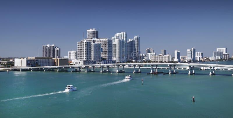 Miami-Skyline stockbild