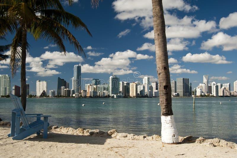 Miami-Skyline stockfoto