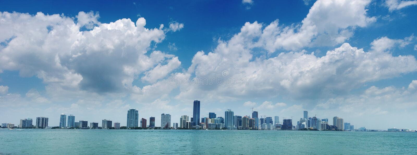 Download Miami Skyline stock image. Image of hotel, city, front - 2656033