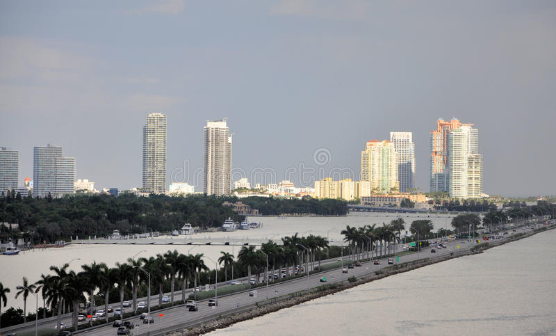 Download Miami Skyline stock photo. Image of buildings, biscayne - 26742346