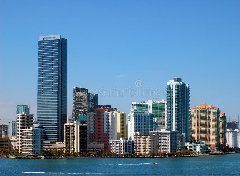 Miami-Skyline lizenzfreie stockfotografie