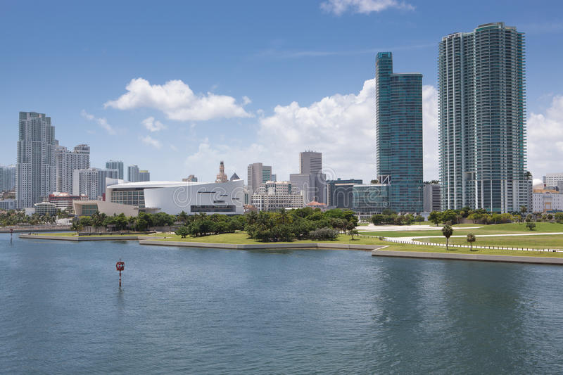 Miami Skyline during the day royalty free stock photo