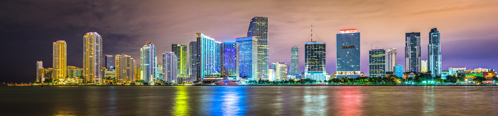 Download Miami Skyline stock image. Image of skyscrapers, dade - 36645819