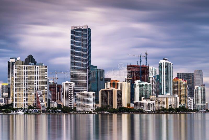 Download Miami Skyline stock photo. Image of water, panorama, high - 37096954