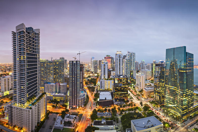 Download Miami Skyline stock photo. Image of boulevard, island - 37097140