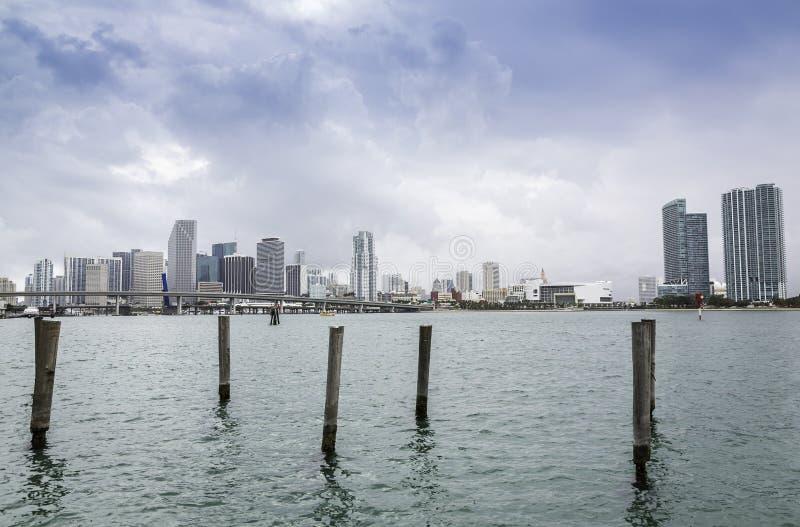 Miami skyline stock photos