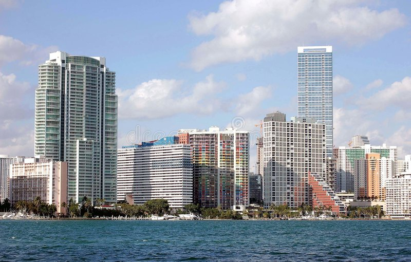 Miami Skyline View stock images