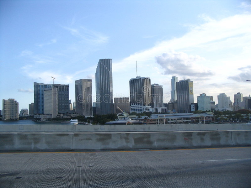 Miami skylines stock photos