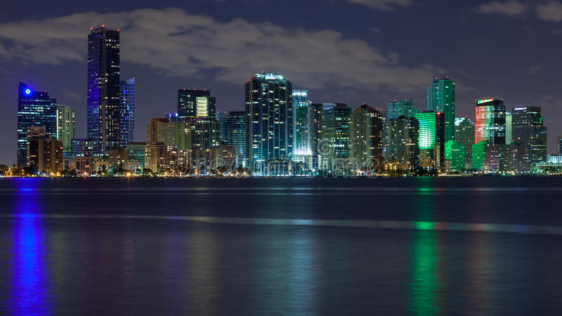 Download Miami Skyscrapers at Night stock image. Image of bayside - 29097727