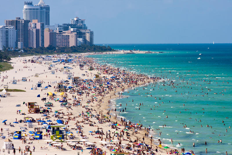 Miami south beach royalty free stock photography