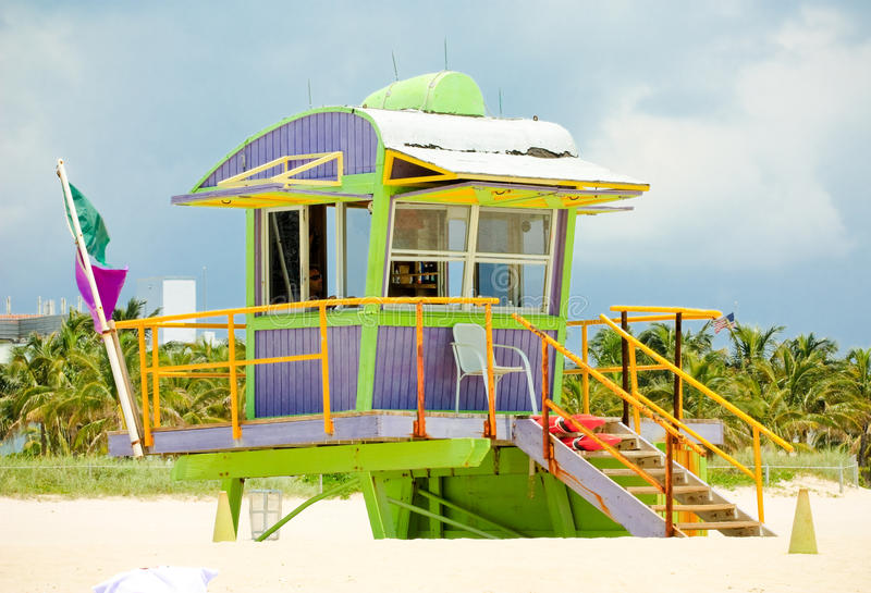 Miami South Beach Lifeguard Stand stock photo