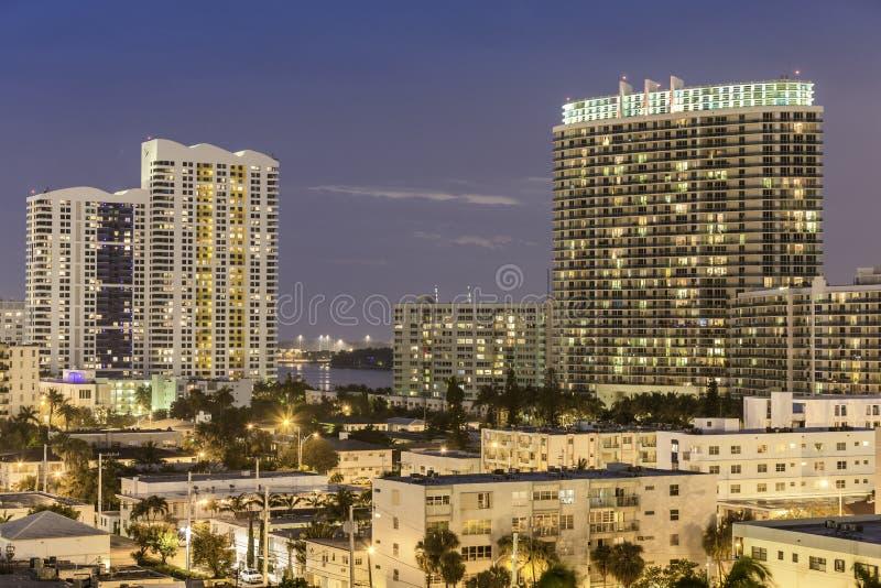 Miami south beach street view royalty free stock photo