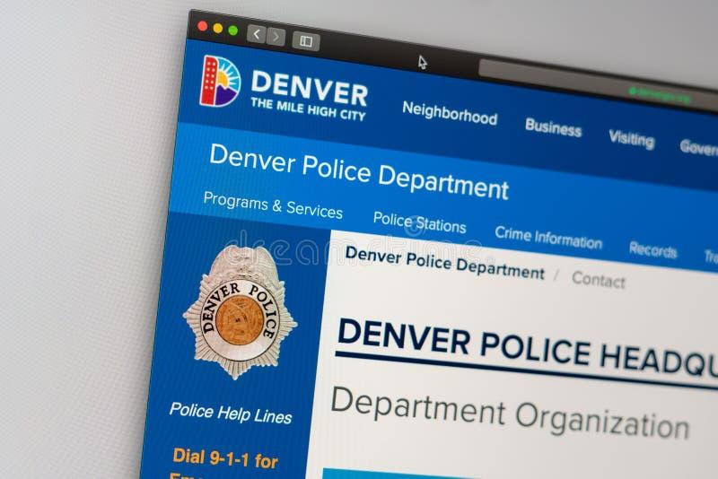 Denver Police Department website homepage. Close up of Police Department logo. Miami / USA - 05.11.2019: Denver Police Department website homepage. Close up of stock photos