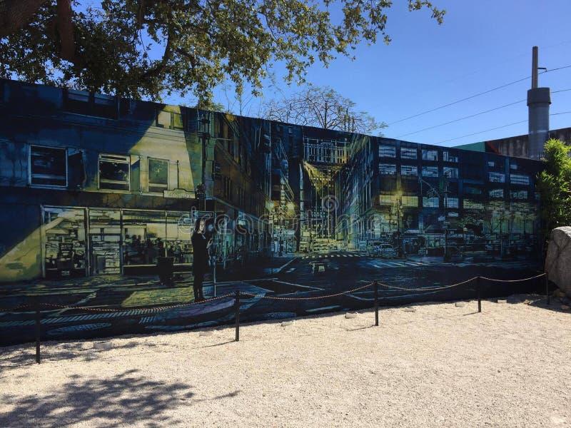 Miami väggkonst tillfredsställer miami färg royaltyfri fotografi