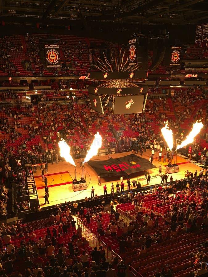 Miami värme vs Sacramento gör till kung NBA arkivfoton