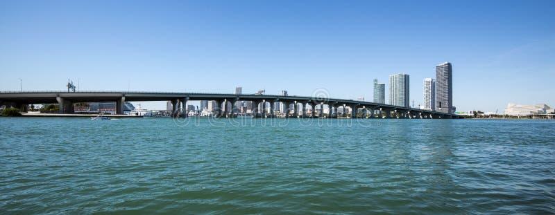 Miami van de binnenstad royalty-vrije stock fotografie