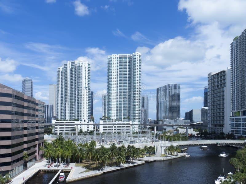 Miami van de binnenstad, de V.S. stock foto's