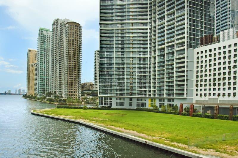 Miami van de binnenstad, Florida, de V.S. royalty-vrije stock afbeelding